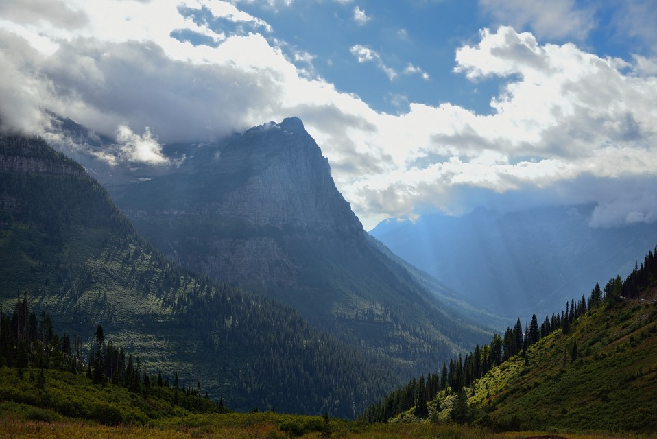 Mountains in  the Continental Divide of Glacier National Park - Glacier National Park