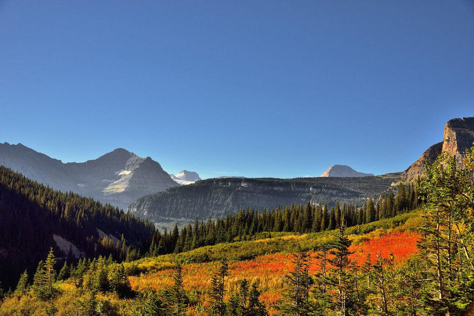A Look Across the Mountains, Valleys, and Grassy Meadows at Piegan Pass (Glacier National Park) - Glacier National Park