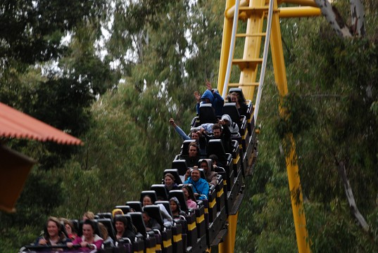 Gold Reef City's roller coaster ride - Gold Reef City