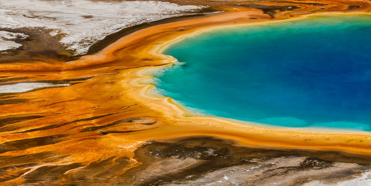 Grand Prismatic Spring Colors - Yellowstone National Park - Grand Prismatic Spring