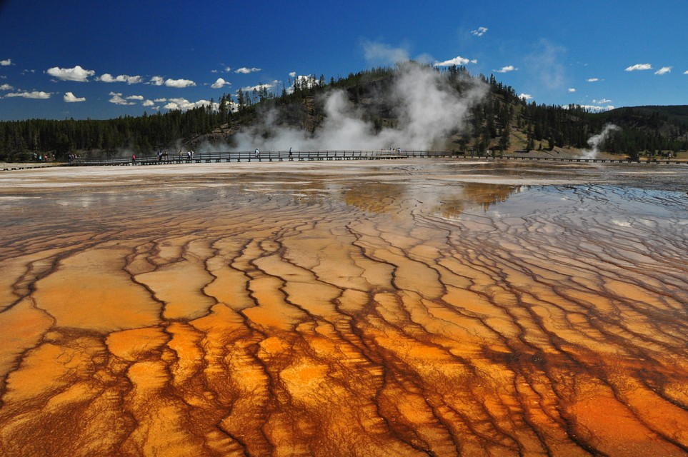 Grand Prismatic Spring From a Distance - Grand Prismatic Spring