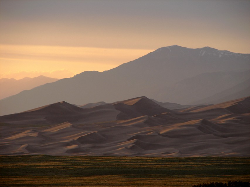 Great Sand Dunes at sunset - Great Sand Dunes National Park and Preserve