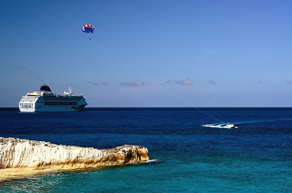 Parasailing at Great Stirrup Cay - Great Stirrup Cay