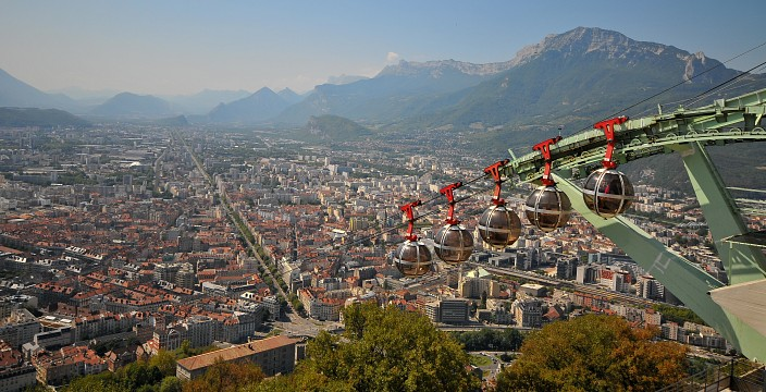 Grenoble-Bastille cable car