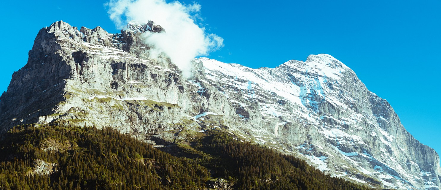 (99MP Panorama) Eiger from Grindelwald - Grindelwald