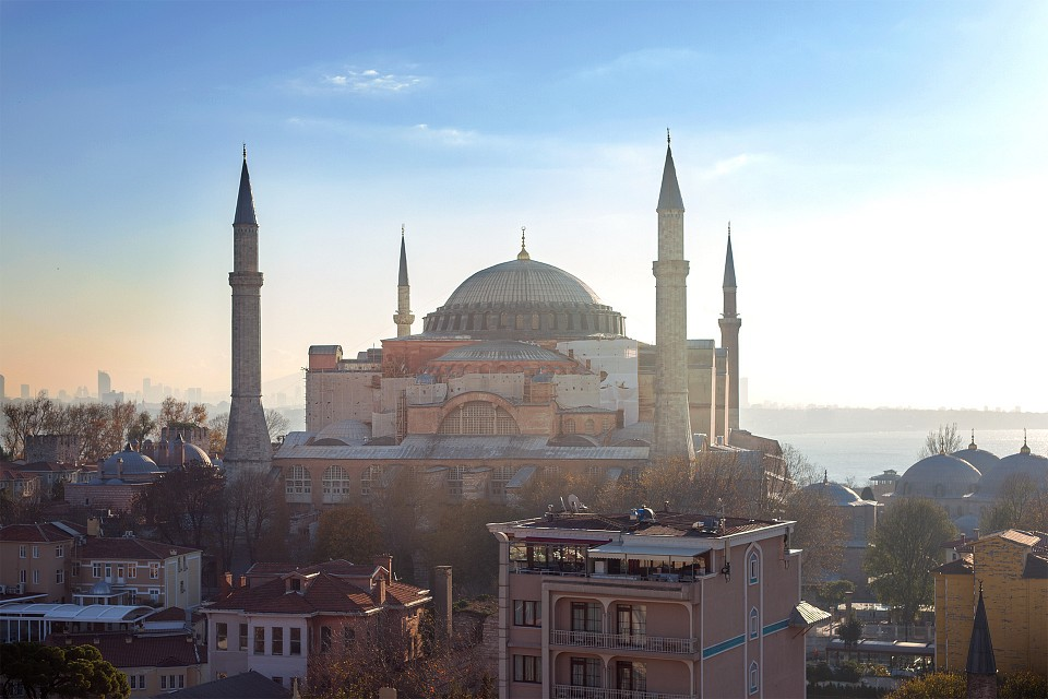 Hagia Sophia at Sunrise. - Hagia