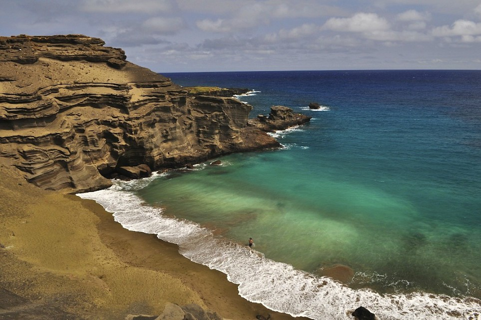 Papakolea Beach, Big Island, Hawaii. - Hawaii