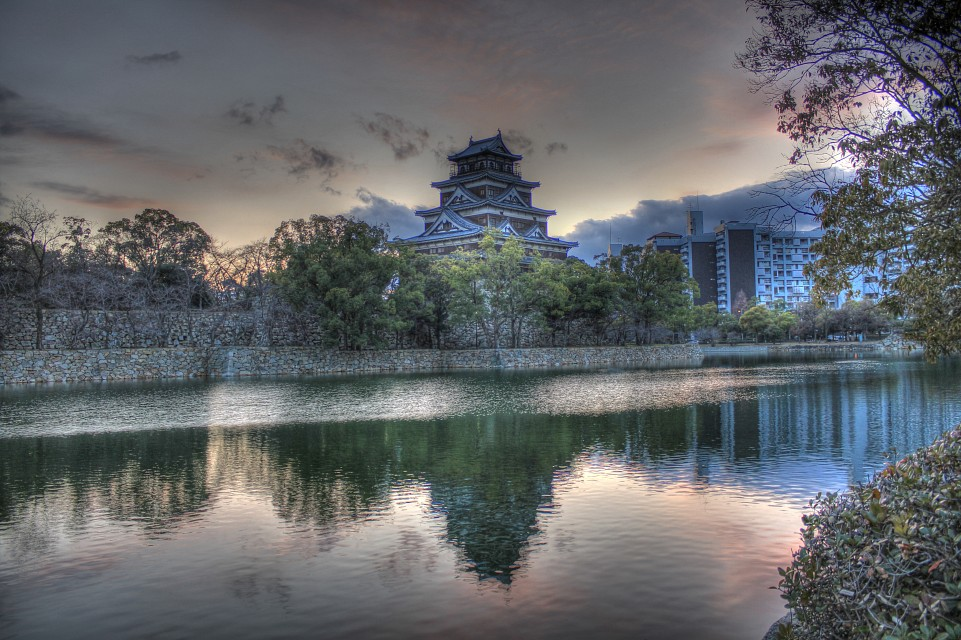 Japanese Castle, Hiroshima, Japan - Hiroshima Castle