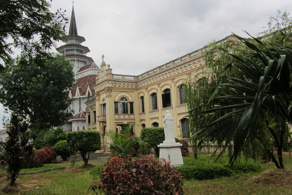 Oblique view of Redemptorist monastery and Church, Hue - Huế