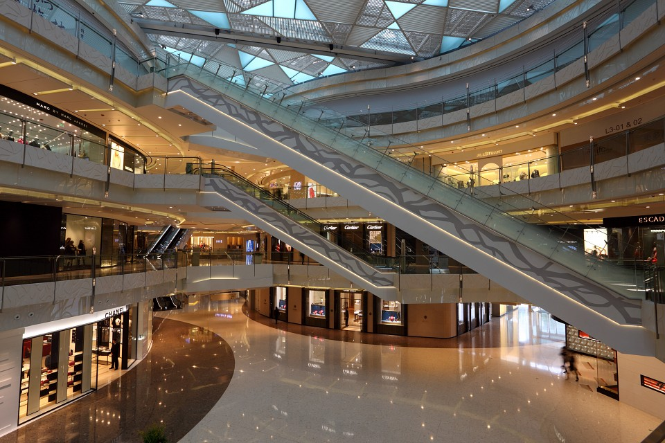 Interior of the IFC Mall in Pudong, Shanghai, China. Photo taken at 21st of November 2010 - IFC Mall