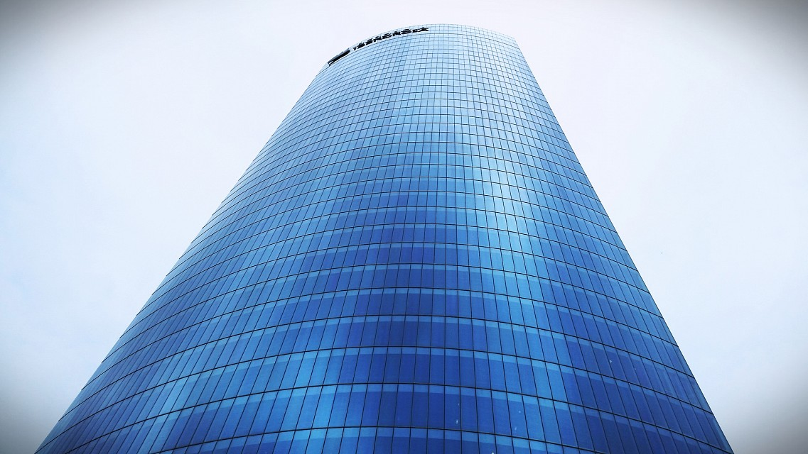 ● BilbaoTower #iberdrola #bilbao #glass #spain #skyscrapper #blue - Iberdrola Tower