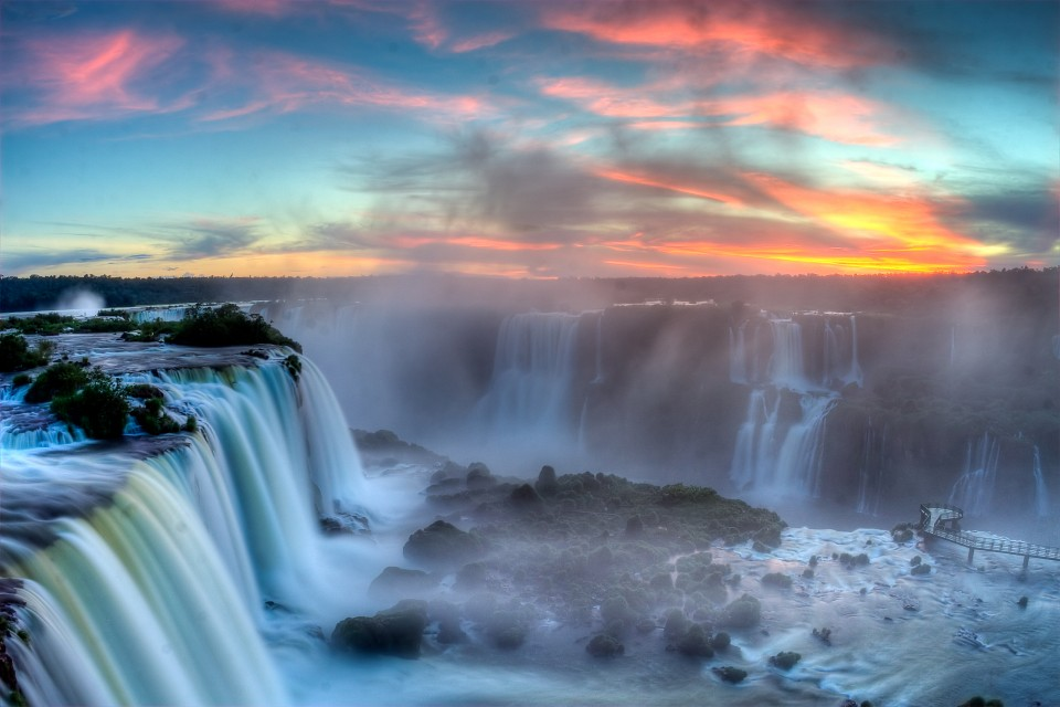 Sunset over Iguazu - Iguaçu