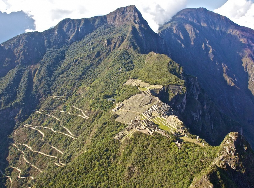 View from Huayna Picchu - Inca Trail to Machu Picchu