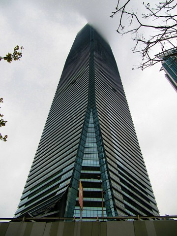 The ICC at 45 degrees - International Commerce Centre