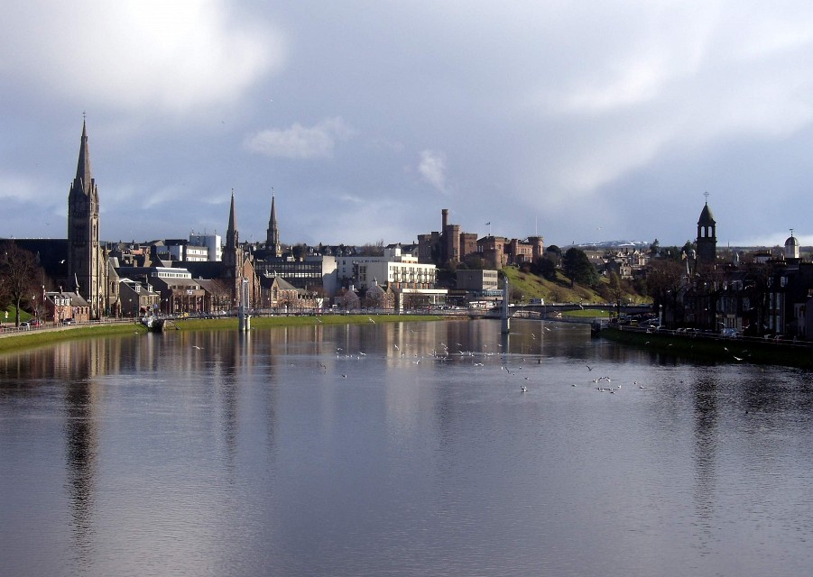 River Ness - Inverness Scotland from Friars Bridge - Inverness