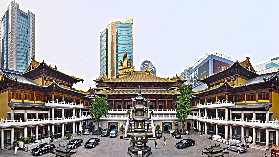 Jing'an Temple (HDR) - Jing'an Temple