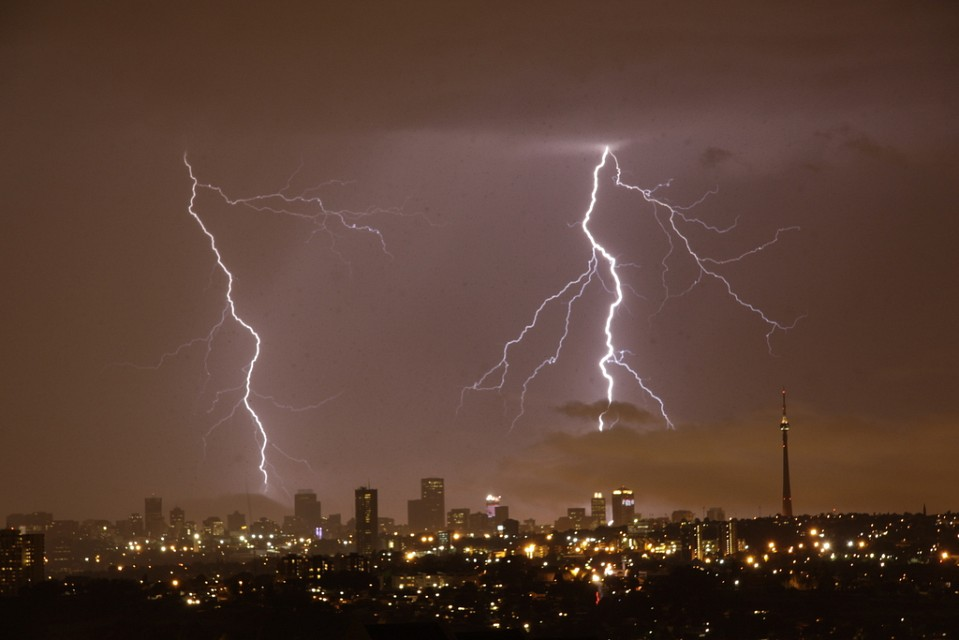 Lightening on New Years Eve, 2011 - Johannesburg