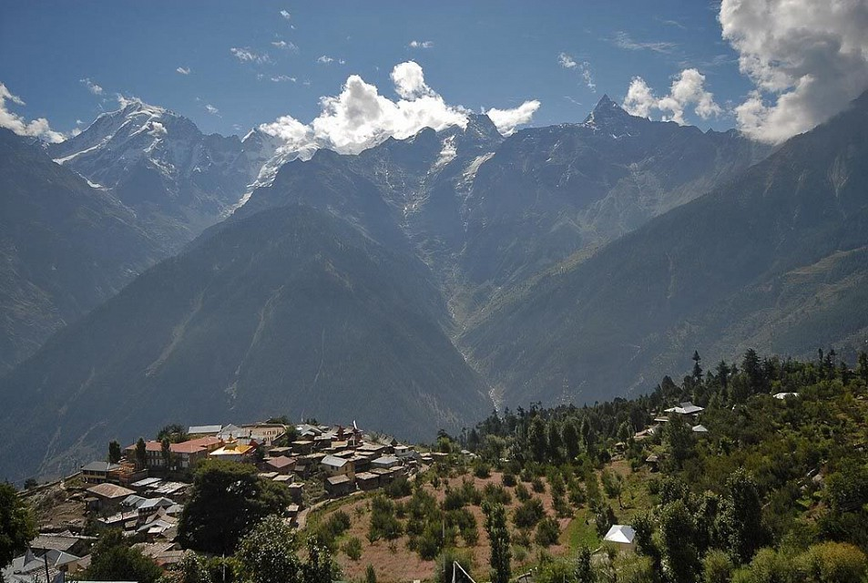 Kalpa. Village in Himachal Pradesh, India