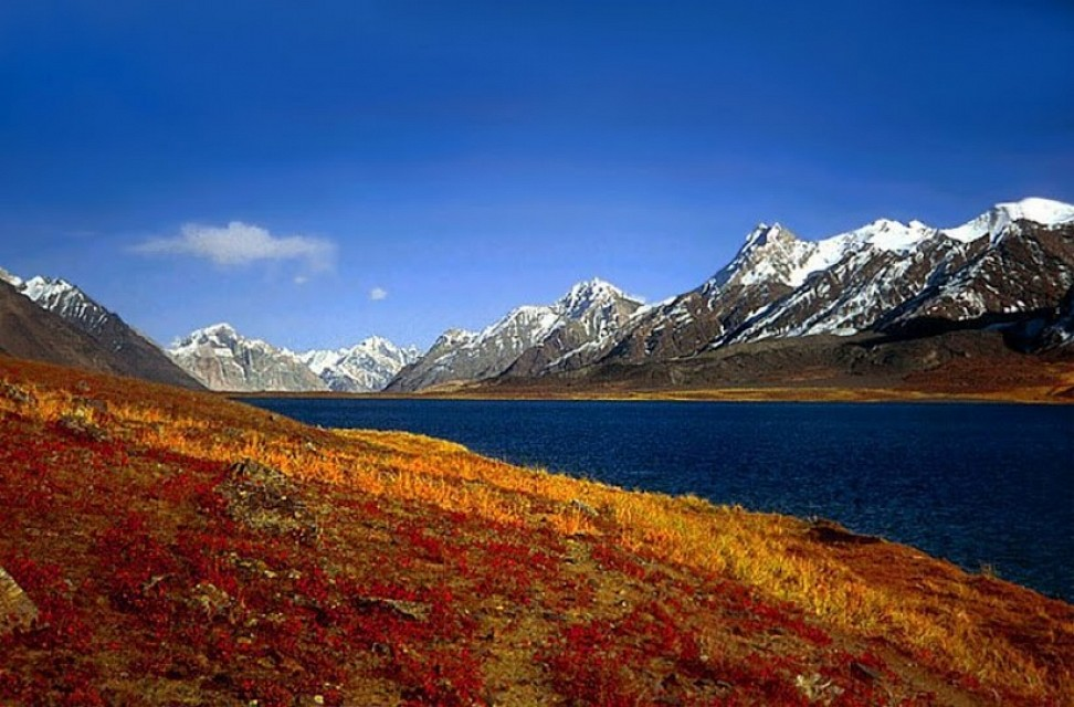 Karambar Lake. Lake in Pakistan, Asia