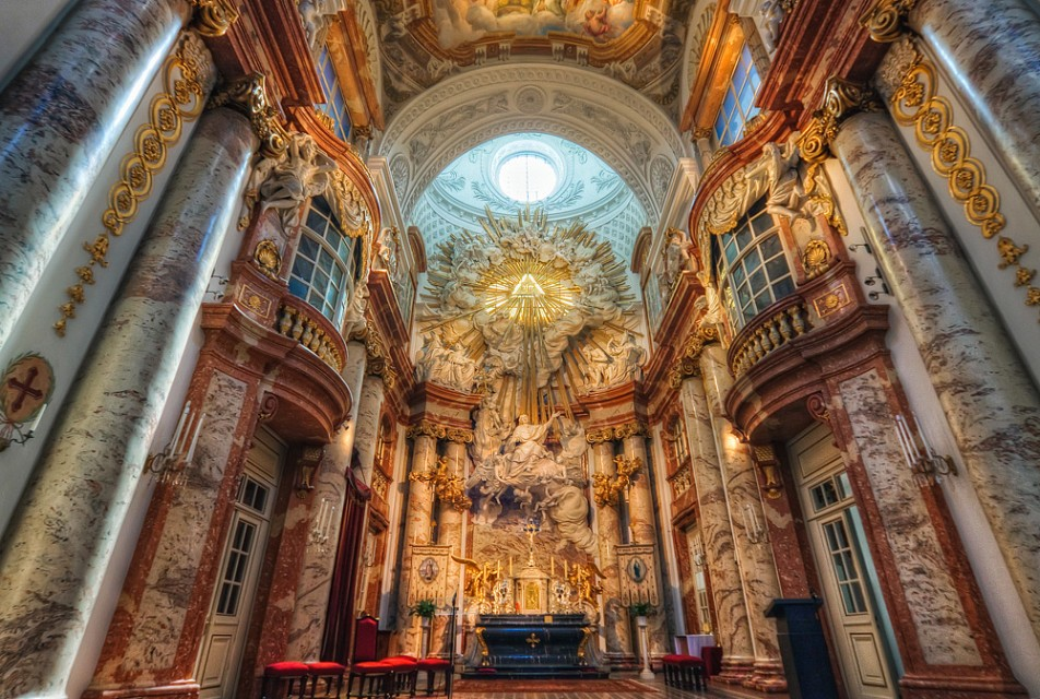 Inside St. Charles's Church in Vienna - Karlskirche