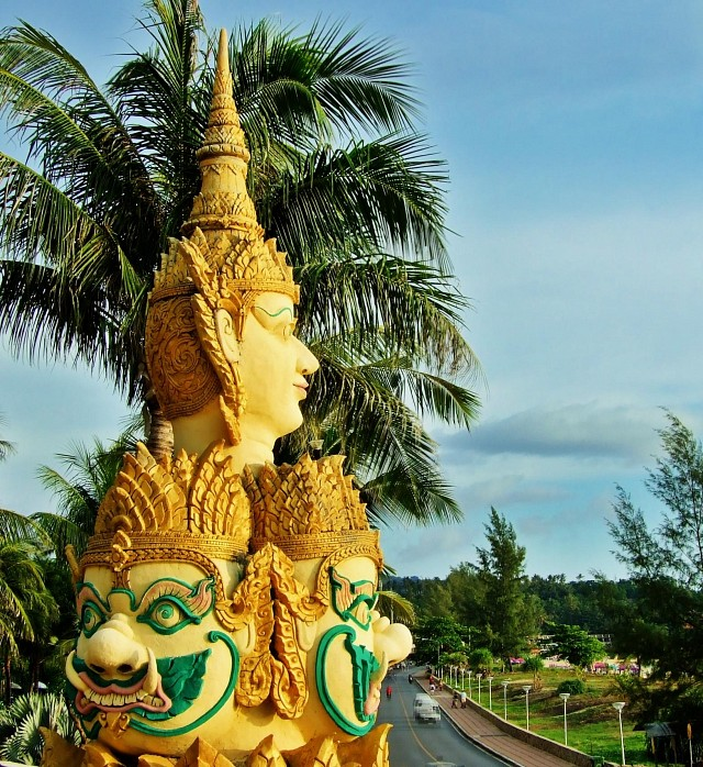 Statue Looks out Over the Andaman Sea - Karon Beach