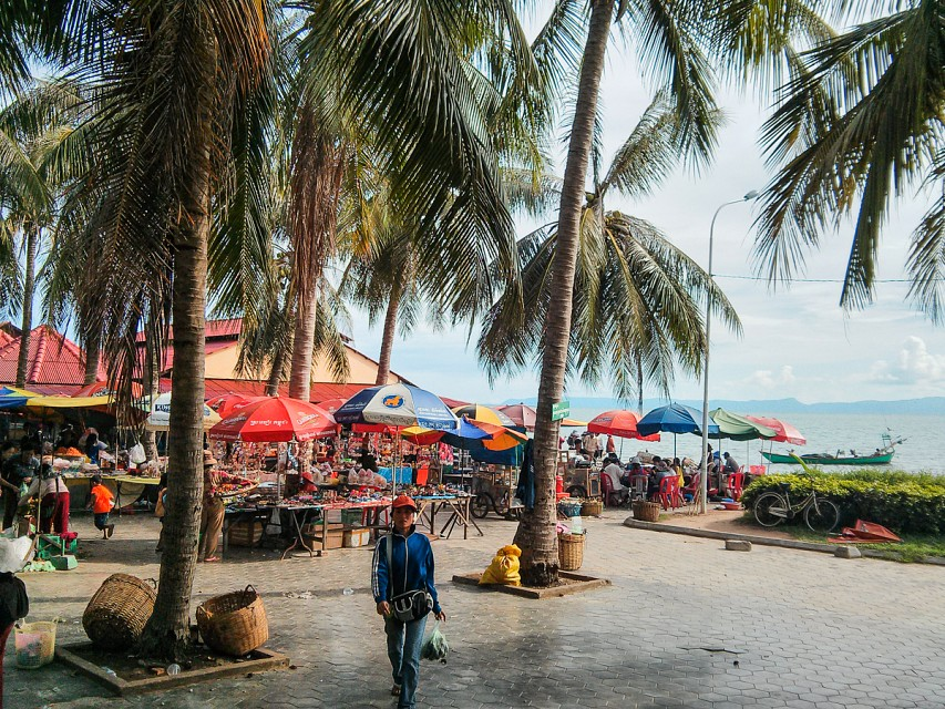 The market in Kep. Cambodia - Kep