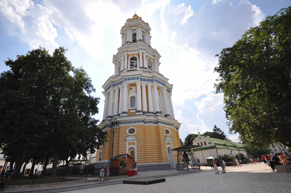 Great Lavra Bell Tower with its four tiers - Kiev Pechersk Lavra