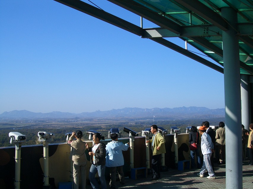 Telescopes at the Dora Observatory. - Korean Demilitarized Zone