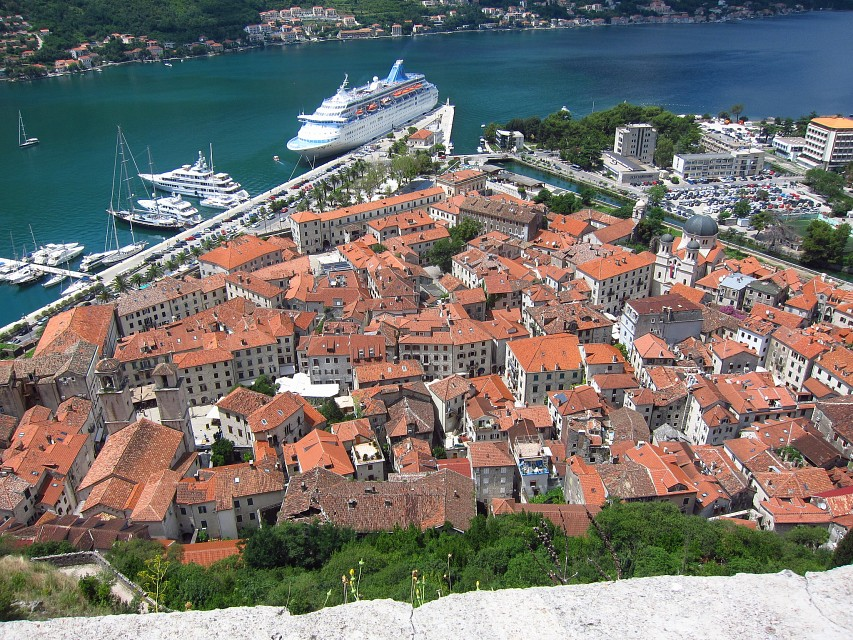 View of Old Town Kotor from the Fortress Walls - Kotor
