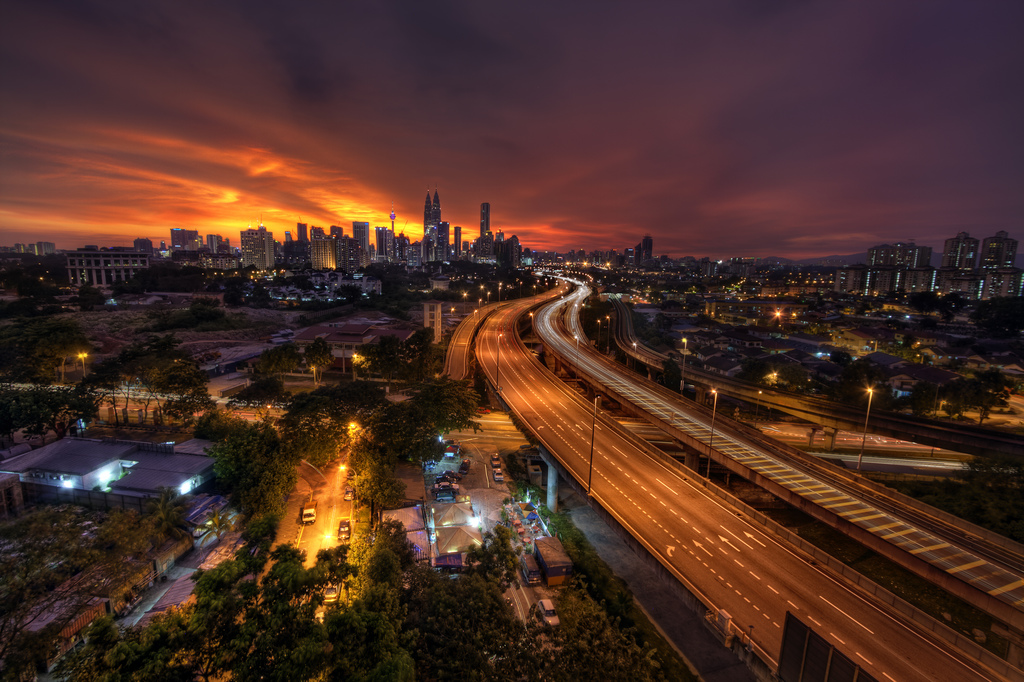 Image result for empty road kuala lumpur