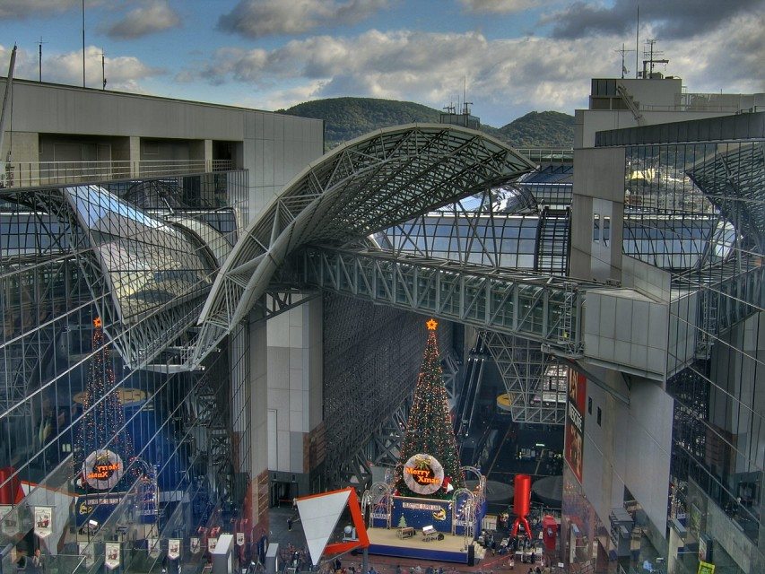 Kyoto Station and Shopping area (HDR) - Kyoto
