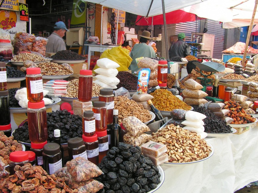 Nuts and dried fruits in La Paz Markets - La Paz