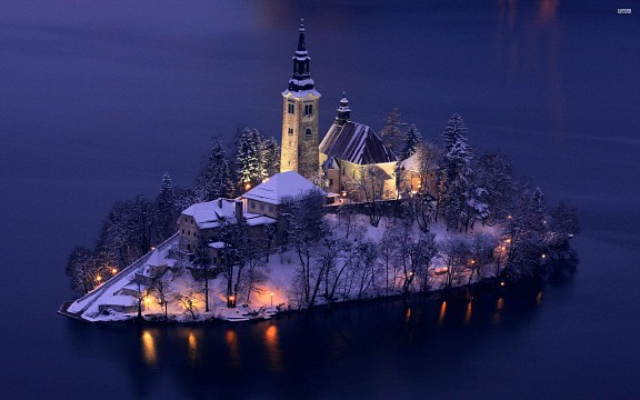 Church of the Assumption,  Bled island - Lake Bled