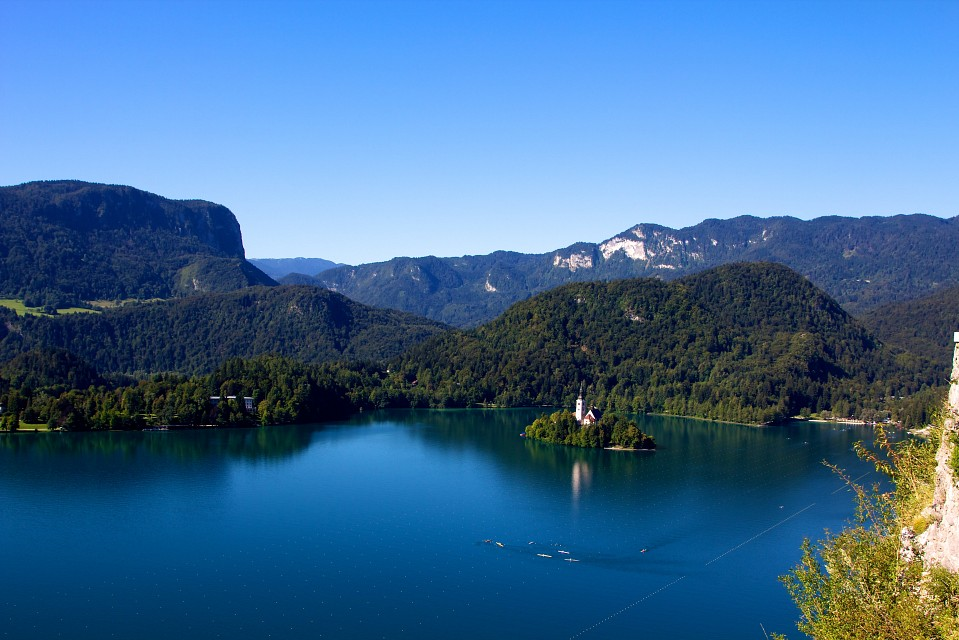 View from the Bled Castel - Lake Bled