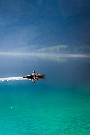 Kayaking on the lake -