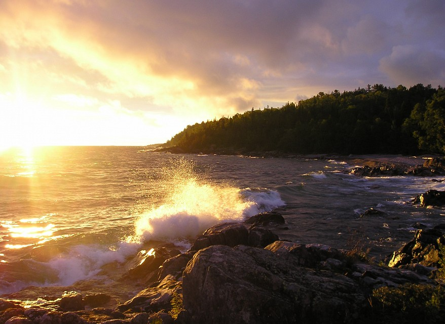 sunset - Lake Superior Provincial Park