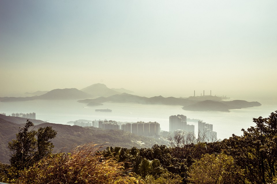 Lamma Island in the January haze - Lamma Island