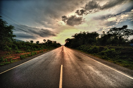 Roads in Laos -