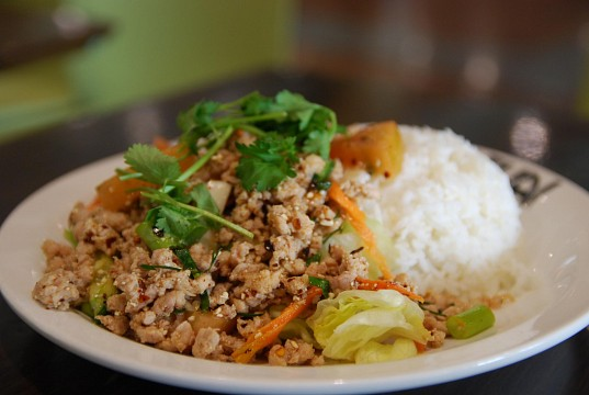 Larb Gai with Rice - Mint Thai