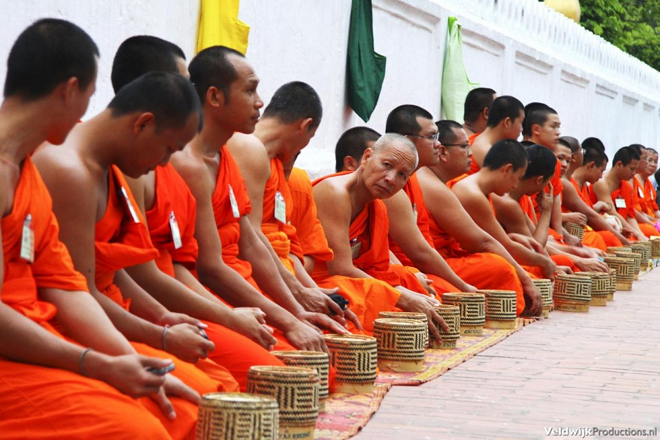 Monks in Luang Prabang - Laos