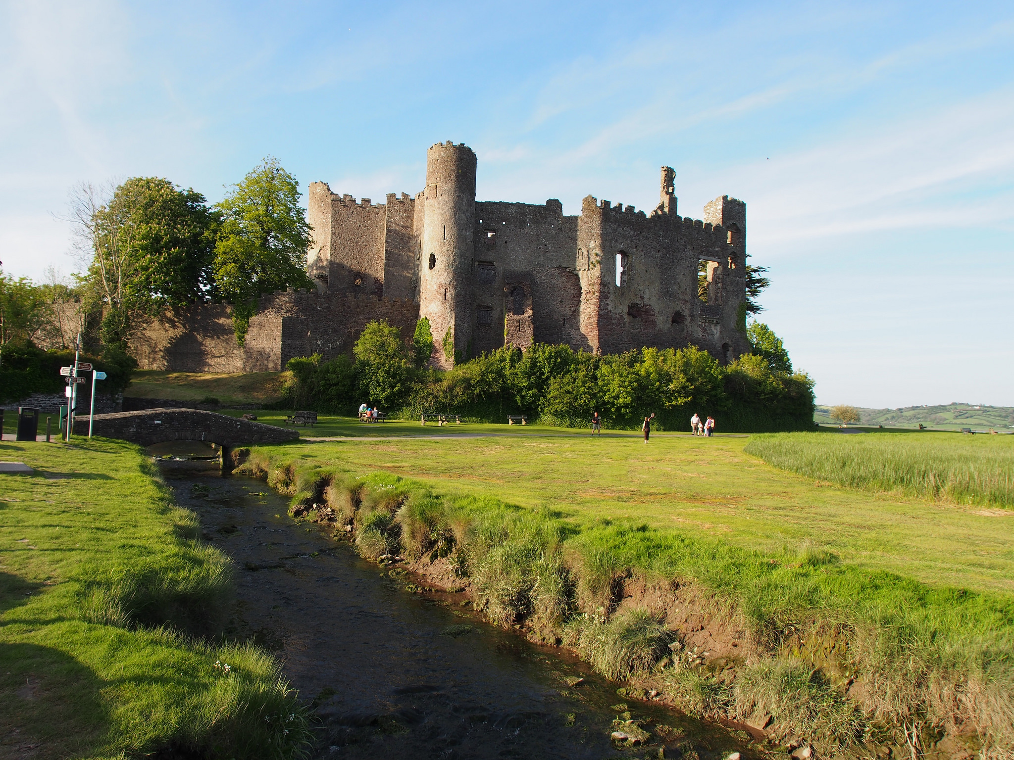 Laugharne United Kingdom  city pictures gallery : Laugharne Castle in Wales Laugharne Castle