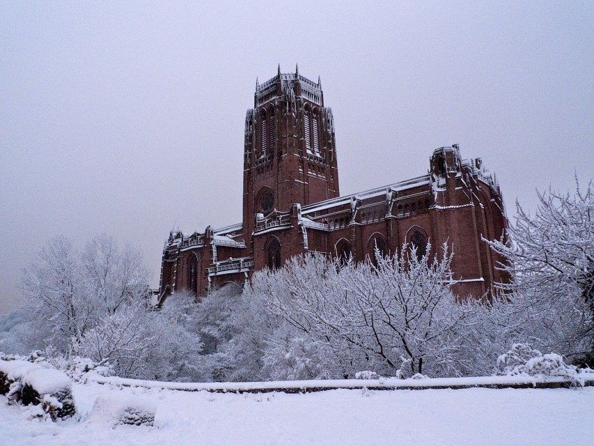 Cathedral in the Snow - Liverpool Cathedral