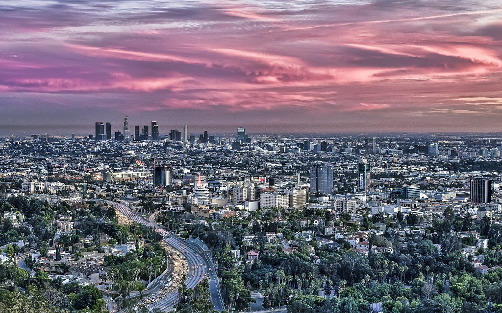 Los Angeles from Hollywood Bowl Overlook - Los Angeles