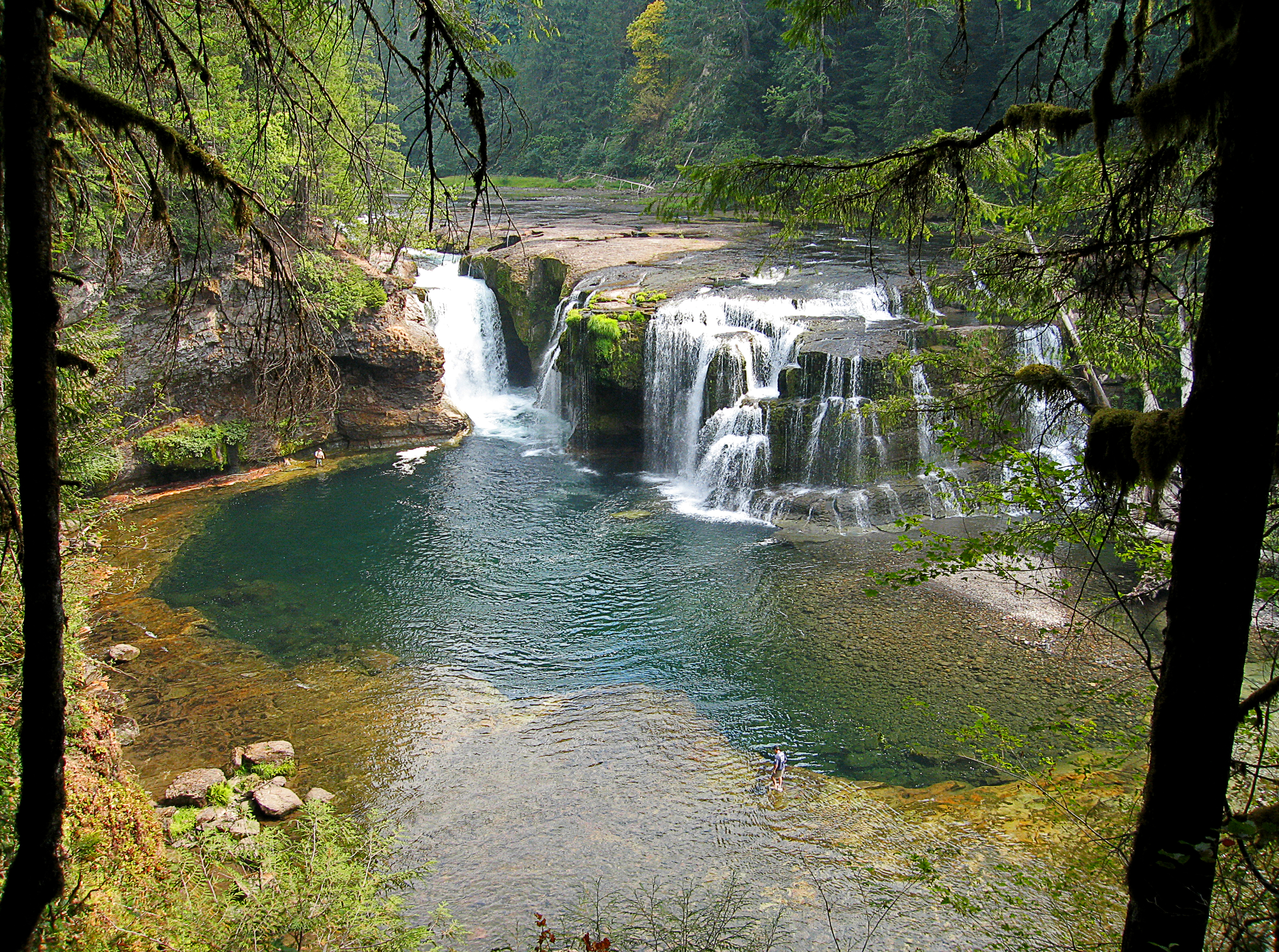 Lower Lewis River Falls Waterfall In Washington