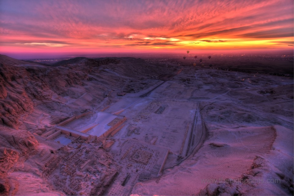 The memorial temple of Queen Hatshepsut and the Dayr Al Bahari cirque - Luxor Egypt - Luxor