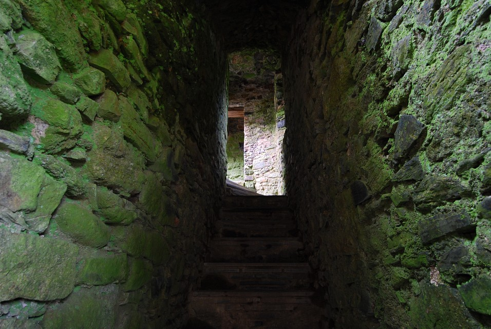 STAIRWELL WITHIN CASTLE LYDFORD - Copy - Lydford Castle