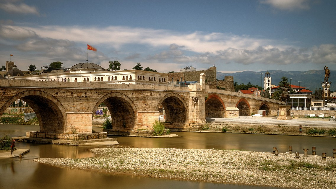 stone bridge skopje macedonia - Macedonia