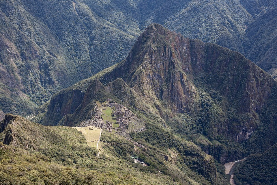 Looking Down on Machu Picchu - Machu Picchu