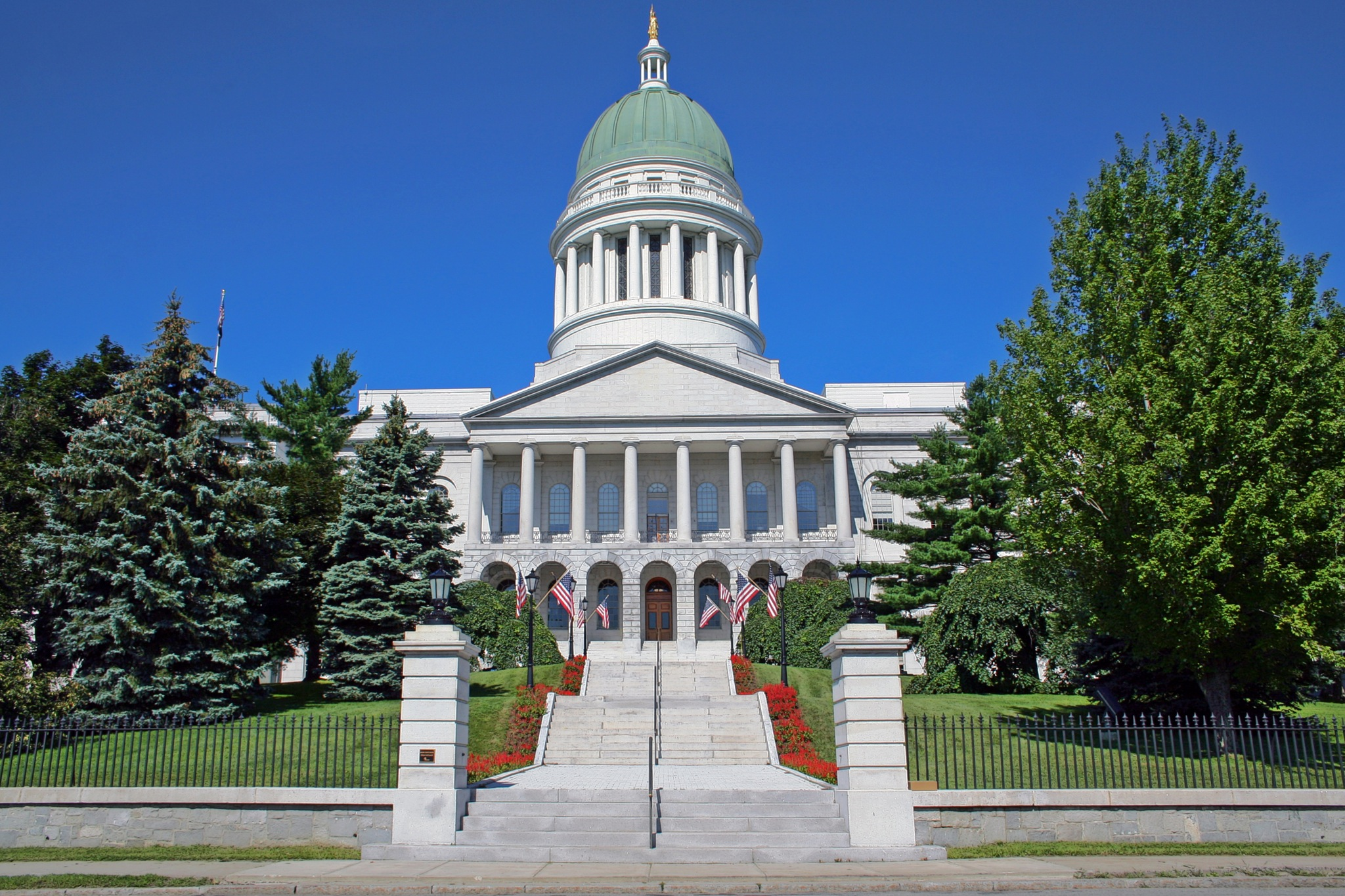 Maine State House Legislative Building In United States