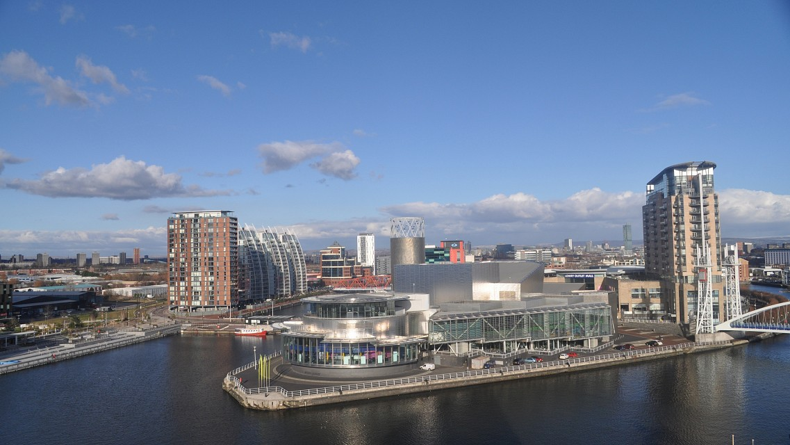 The Lowry  from the Air Shard, Imperial War Museum North, Manchester - Manchester